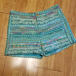 ANTHRO Elevenses tapestry tribal shorts 0